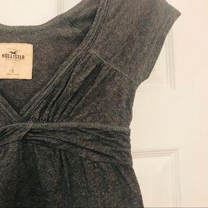 Hollister 100% cotton twist high waist V-neck tee